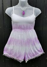 Fair Trade Gringo Tie-Dye Lilac Play Suit Boho Festival Hippy One Size 10-14
