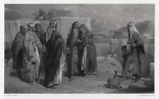 "Religious 1800s Henry Tidey Engraving ""The Woman of Samaria"" FRAMED Signed COA"