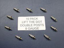 10 Pack LIFT THE DOT DOUBLE POST 8 GAUGE UTE TONNEAU TARP FITTING/CLIP (TNSAC21)