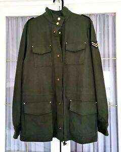 Ralph Lauren Women's Four Pocket Military 100% Cotton Jacket - Green - M
