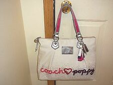 Authentic Coach Poppy Crystal Heart Glam Tote 16319 Rare Limited Edition