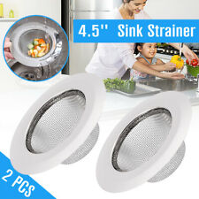 4.5' Stainless Steel Kitchen Mesh Sink Strainer Drain Basket Bathroom Stopper