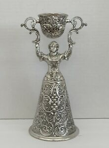 Vintage German Bridal Toasting Wedding/Anniversary Cup Chalice Silver Plated