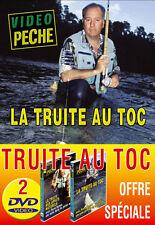 Lot 2 DVD Vidéo Pêche Truites au toc P. Sempé