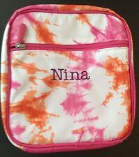New Nina Tye-dye Orange & Pink Pottery Barn Classic Lunch Bag Box Tote Pbt