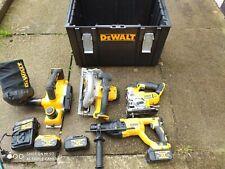 DEWALT XR 18V 4 PCE   BUNDLE with 3 batteries sds , saw , jigsaw, planner