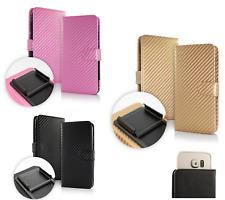 Custodia UNIVERSALE per MEDIACOM PhonePad Duo G415 Cover LIBRO STAND portafoglio