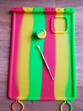 silicone dab mat with built in tool holder/caddy. Send message for the color