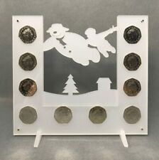 Snowman Coin Display, Perspex 50p Display - Isle of Man Christmas Coins