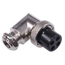 4-Pôles Connecteur Mâle Coudée 90° pour Microphone CB Ham Radio 4-Pin Fiche