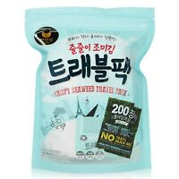 Travel Pack Crispy Seaweed Dried Laver Seafood Healthy food Korea seaweed