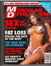 MUSCULAR DEVELOPMENT mag SEX ON THE BEACH /Bobbi Billard/BRANDY DAHL poster 8-02