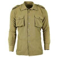 Original Italian army shirt Khaki wool Italy military surplus issue