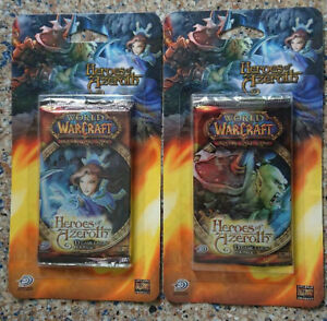 WORLD OF WARCRAFT TCG - Heroes of Azeroth Blister Card Packs (2)   Upper Deck