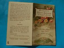 IMAGE PIEUSE HOLY CARD  SOUHAITS SAINTE  THERESE DE L ENFANT JESUS ROSES