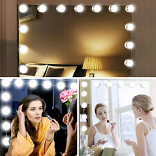10X Hollywood LED Bulbs Vanity Makeup Dressing Dimmable Mirror Lights Tool NEW