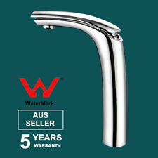 WELS Tall Round Mixer Tap Bathroom Vanity Basin Sink High Faucet Brass Chrome