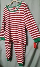 "Family PJs   Red White Pajama Set Christmas  Cosplay Halloween  2XL 50""   UNISEX"