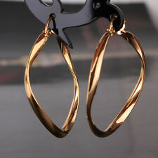 18k gold filled brilliant wedding fashionable Snap Closure charm hoop earring