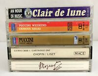 Lot of 5 Cassette Tapes ~ 80's, Classical, Modern, Opera