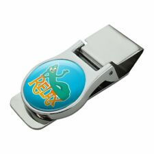Gumby Says Relax Chill Chillin' Satin Chrome Plated Metal Money Clip