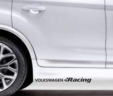 2x Side Skirt Stickers VW Volkswagen Racing Premium Qaulity Decals VL107