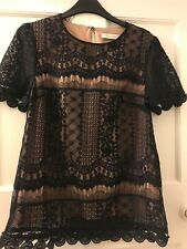 Oasis black/cream lace top. Size 8. Immaculate condition, worn once. £20 ONO