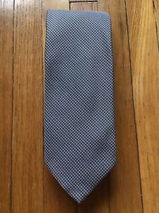 NWOT Breuer Silver/Black Mini-Houndstooth Neck-Tie,100% Silk Tie,Made in Italy
