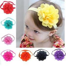 8Pcs/lot Girls Baby Newborn Chiffon Flower Toddler Hair Band Headbands Headwear