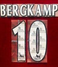 1997/06 Arsenal FC EPL #10 BERGKAMP Soccer Home VELVET/FELT Name Set