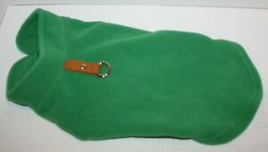 Gooby Fleece Vest Pullover Sweater w/Leash Ring SMALL BREED Green S, L, or XL