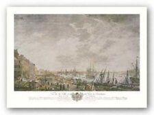 Vue De La Ville Et Du Port De Bordeaux Joseph Vernet Art Print 14x24