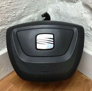 Genuine Seat Leon 1P steering wheel driver centre 5P0880201AN 1MM. SRS Bag.  C6