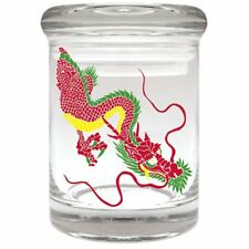 RASTA DRAGON Airtight Smell Proof Spice Herb Storage GLASS STASH JAR - 1/8 oz