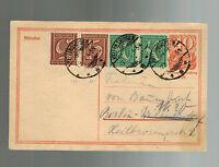 1922 Kelinghausen Germany postal stationery Postcard Cover to berlin Judaica