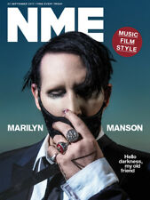 The NEW MUSICAL EXPRESS NME 22 September 2017 Marilyn Manson Cover n.m.e.