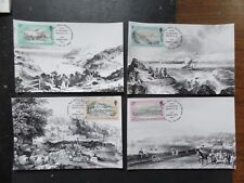 Guernsey 1982 Old Prints 4 Maximum Cards