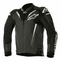 Alpinestars Atem v3 Leather Sports Motorcycle/Motorbike Track Jacket - Black