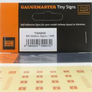 Gaugemaster Tiny Signs N Gauge BR Station Signs Western Region - Brand New