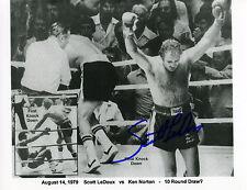 Scott LeDoux-Pro-Heavyweight-Boxing Great vs. Ken Norton 8x10-B&W Glossy W/COA