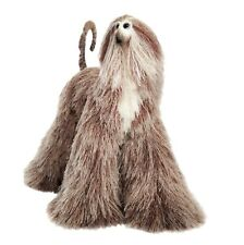 Collectibles Animals Brown Beige Motley Afghan Hound Cute Plush Mini Toy Galgo