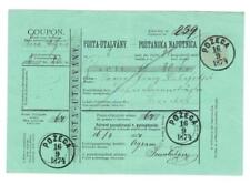 Hungary POSTAL MONEY ORDER-HG:J5-POZEGA 16/9/1874