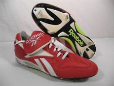 Reebok Leather Baseball Softball Metal Cleats Spikes Shoes Red White Mens 16