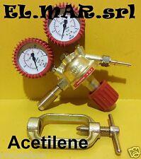 Riduttore di pressione ACETILENE in ottone con manometro gas compresso