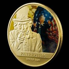 World War II Uncle Sam's I Want You Of The 1oz Gold Plated Commemorative Coin
