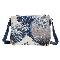 HOKUSAI THE GREAT WAVE CROSS BODY BAG SIGNARE TAPESTRY ART SHOULDER