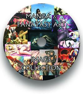 12,000+ FANTASY & MANGA ART IMAGES COLLECTION CD