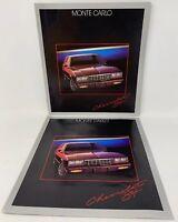 Chevrolet Monte Carlo 1984 Lot Of 2 Original Dealer Car Sales Brochure 18-1254