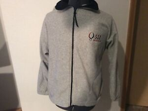 USA 2008 Beijing Olympic Games Gray Full Zip Fleece Jacket Size Medium USA Gray