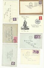 Great Britain: Lot of 10 covers with queen + 1 cover Canada some defect. GB215